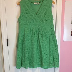 Kim Rodgers Petite Green Lace Wrap Dress
